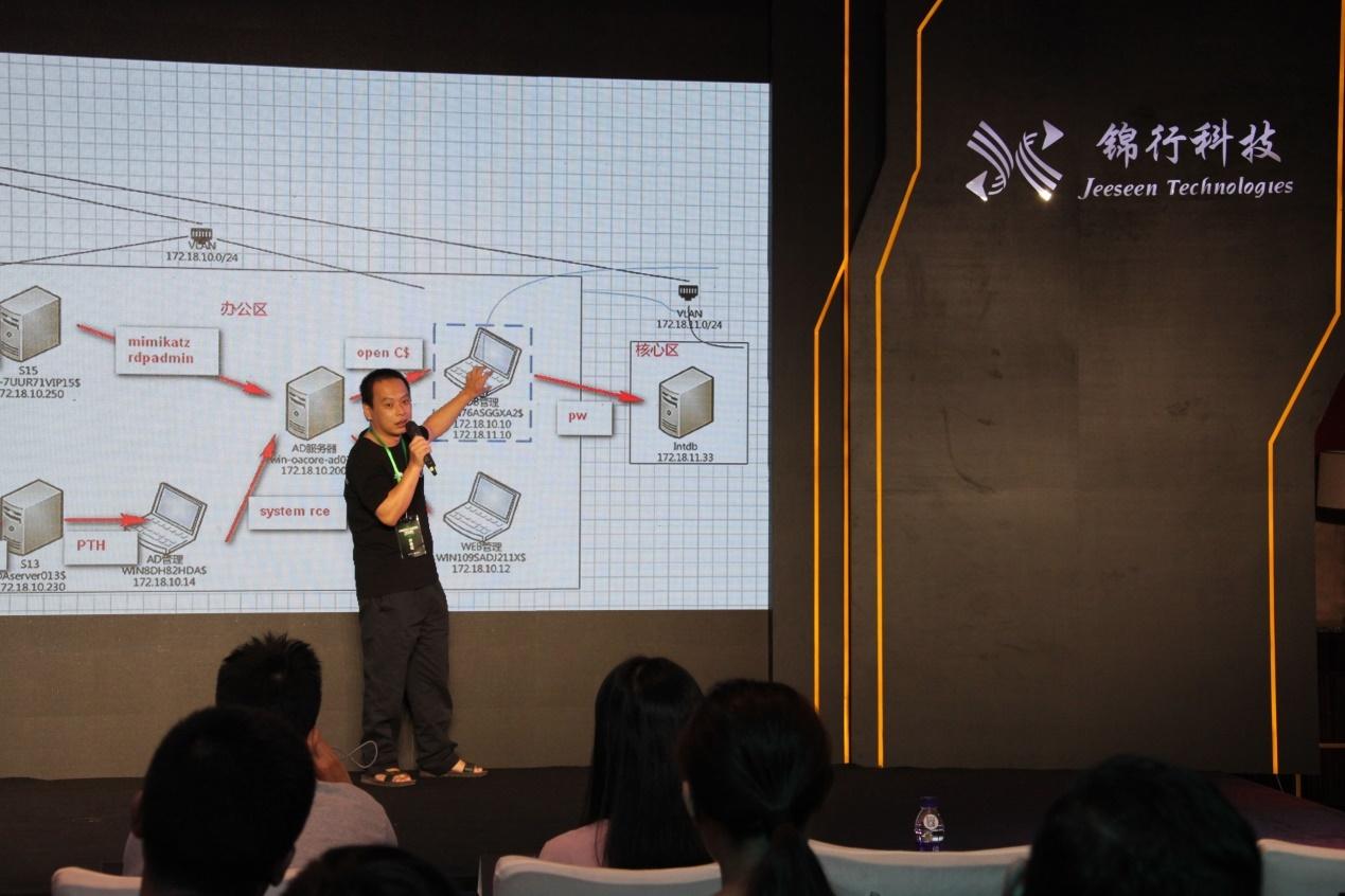 锦行科技首席安全官王俊卿结合幻云捕获到的攻击数据对幻云平台进行解说